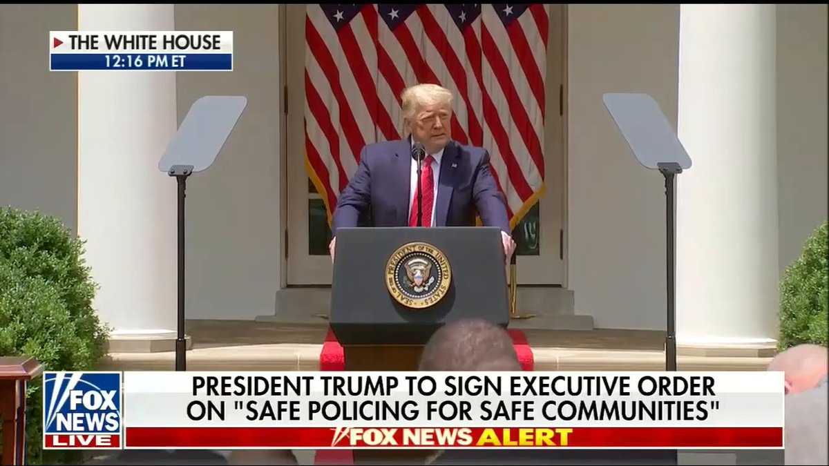 """President @realDonaldTrump announces """"historic action to deliver a future of safety and security for Americans of every race, religion, color, and creed."""""""