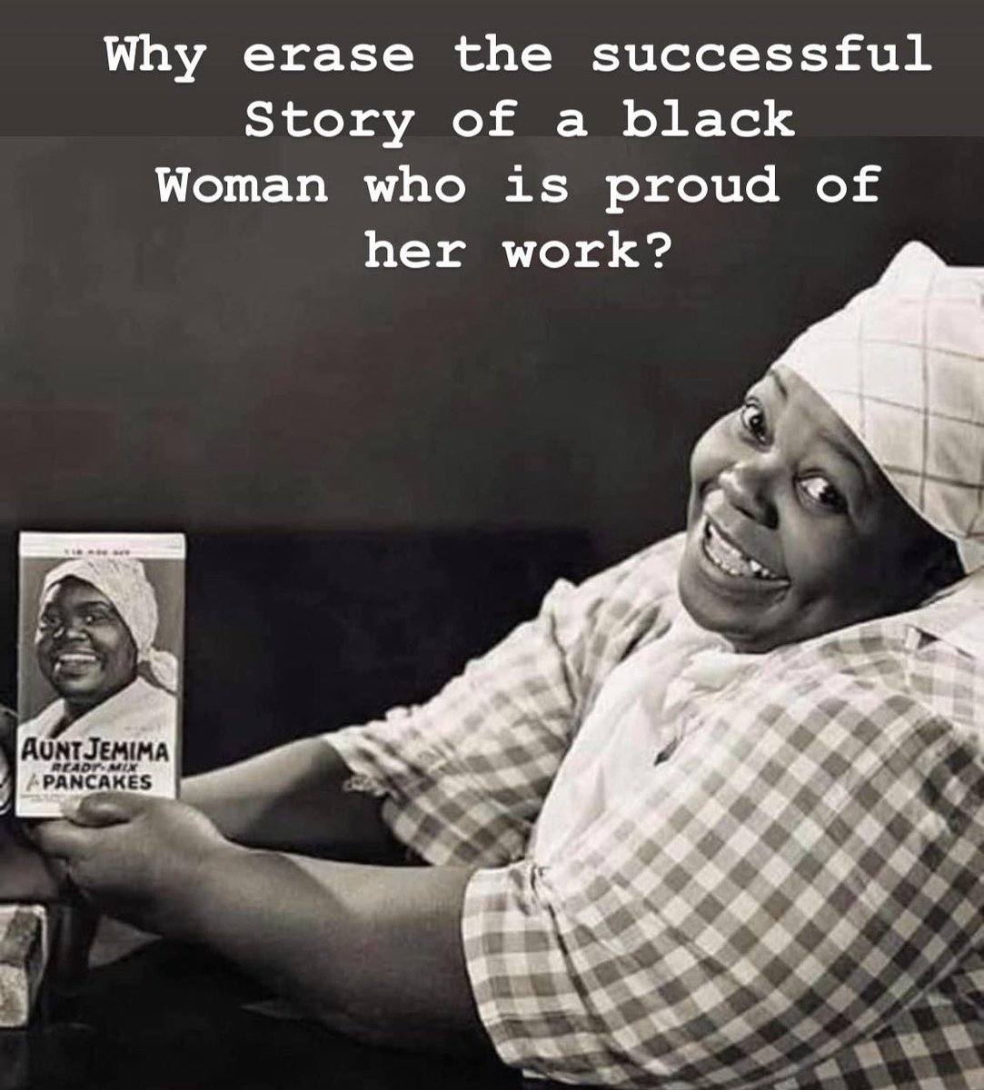 To the white people who erased black history with #AuntJemima
