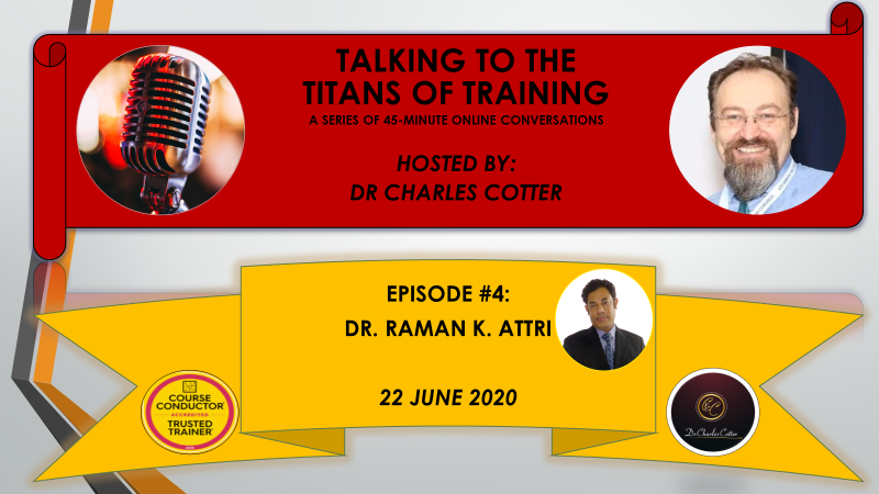 I'm delighted to announce that the global trainer, inspirational speaker, prolific author and mastermind of Speed to Proficiency, @rkattri, who is based in Singapore, has accepted my invitation to be my guest (episode 4) of Talking to the Titans of Training, on 22 June 2020. https://t.co/iuAFfPuleN