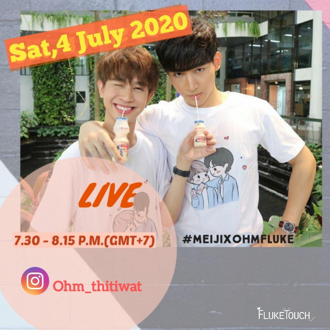 พรุ่งนี้เรามีนัดกันน๊า ~~  🗓 4 July 2020 ⏰ 7.30 - 8.15 PM (GMT+7) 📌 IG : Ohm_thitiwat  น้องๆจะมาทำอะไรน๊า อย่าลืมติดตามกันด้วยนะคะ 🥰💙💙💙💙  #MeijixOhmFluke  #เจ้าแก้มก้อน ของ #โอห์มไง  #โอห์มฟลุ้ค  #คุณหนูขี้อายกับคุณชายเจ้าชู้  #MyBlue