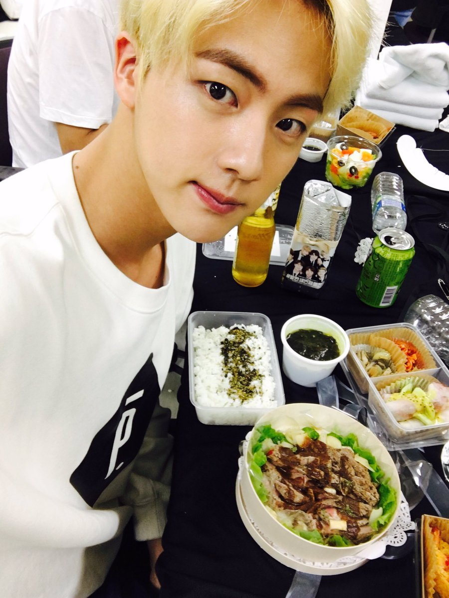#ARMY_RETWEETING_GAME   💠 GAME 2  Let's raise the difficulty 💃  🔎 Find the tweet of @BTS_twt which our blonde Seokjin posted with the yummy food 🔥  👉 Unlock the next game by making the post reach 60.2K retweets!  (Remember to post your screenshot showing you rt-ed it)