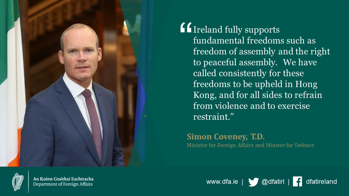 test Twitter Media - Minister @simoncoveney's statement on #HongKong is available at: https://t.co/yIz8fCGmAd https://t.co/uJKR0A8Q4L