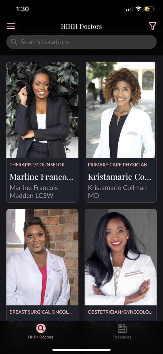 I just downloaded this app called Health in Her Hue that connects Black women with Black healthcare providers. Pls encourage Black healthcare professionals you know to sign up so they can be displayed!