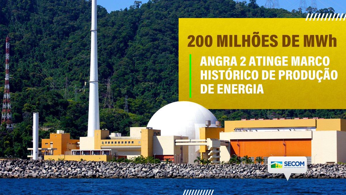 Em operação comercial desde 2001, a usina nuclear Angra 2 (1350 MW) atingiu um marco histórico ao alcançar a produção acumulada de 200 milhões de MWh.