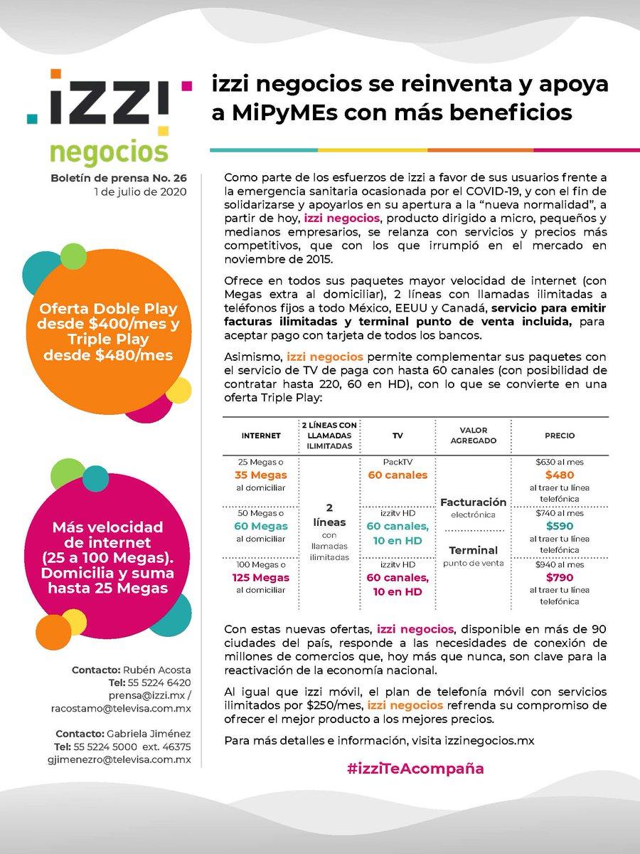 .@izzi_mx negocios se reinventa y apoya a MiPyMEs con más beneficios #izziTeAcompaña #izziNegocios