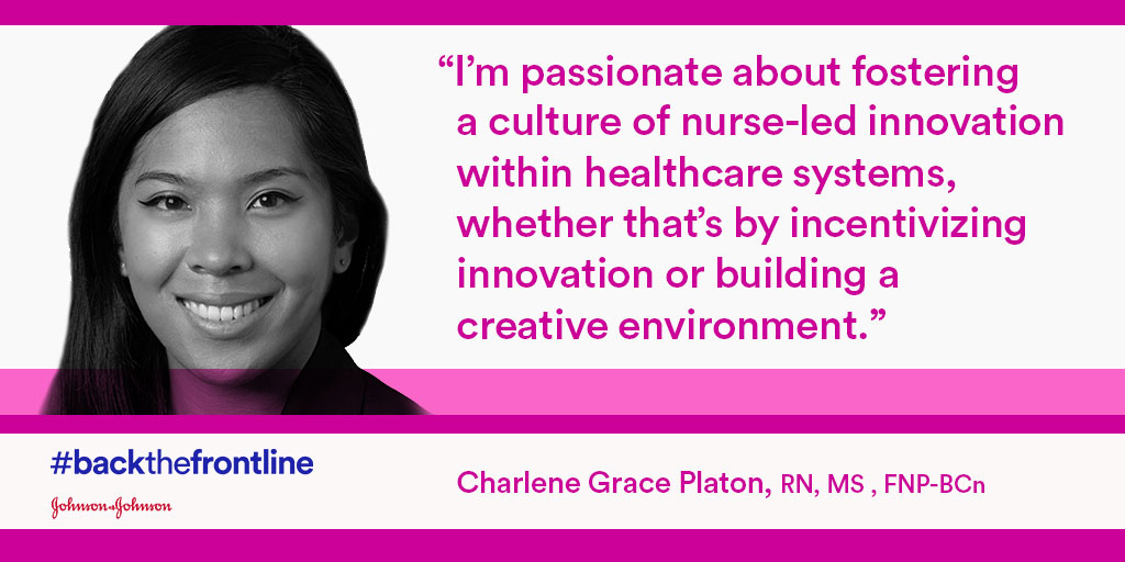 Innovators. Entrepreneurs. Leaders. Nurses.  We #BackTheFrontline by elevating nurses' voices and championing their ideas. See the power of nurse-led innovation to transform human health with @JNJNursing: