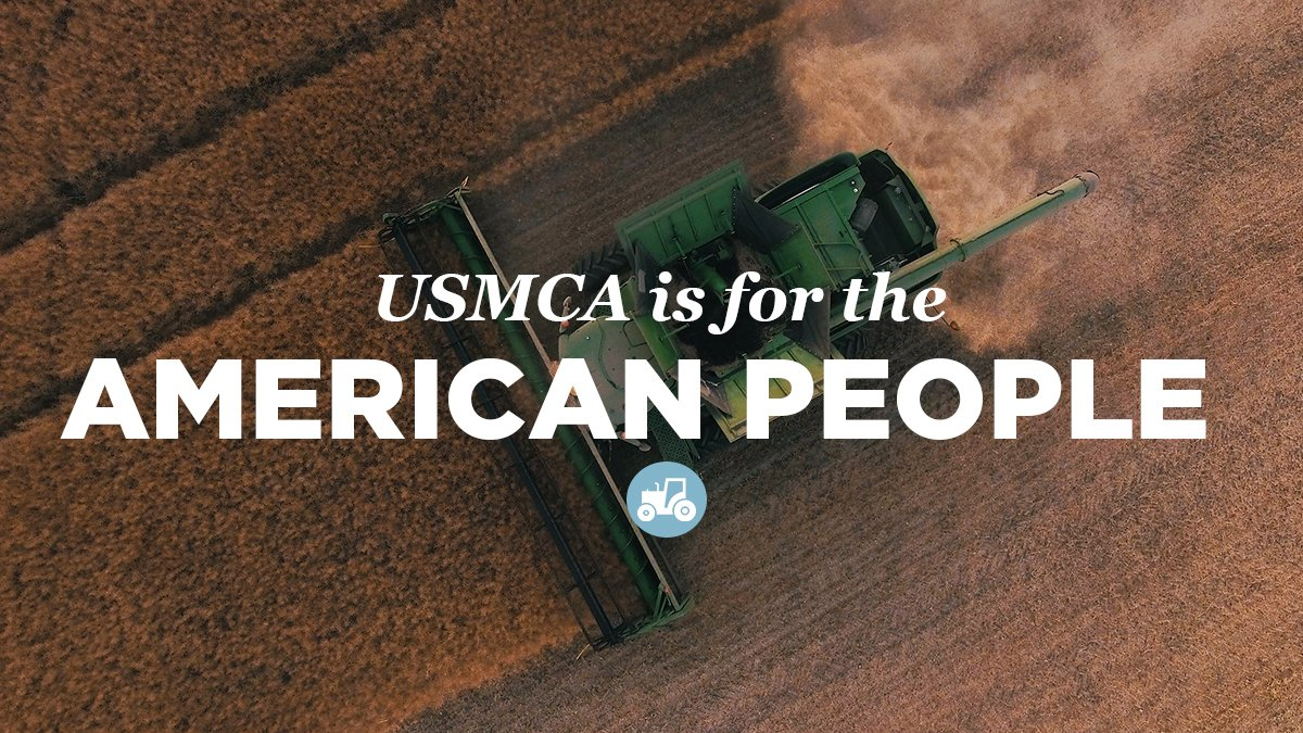 The United States-Mexico-Canada Agreement (USMCA) goes into effect today. This new, pro-growth trade agreement will grow new jobs right here in #IL13. It's a win for central Illinois farmers, workers and businesses.