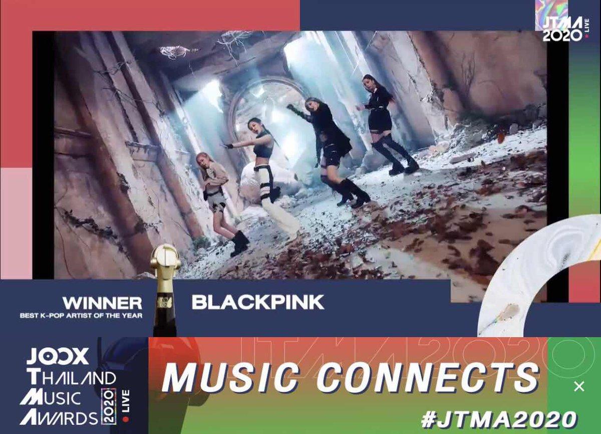🏆ขอแสดงความยินดีกับ @BLACKPINK หลังคว้ารางวัล Best K-POP Artist of the Year ที่งาน #JTMA2020 ไปครอง 👏👏👏  #JTMA2020 #sanook #SanookxJTMA2020  #JTMA2020xBLACKPINK #BLACKPINK #블랙핑크 #BLINK #JENNIE #JISOO #LISA #ROSÉ #제니 #지수 #리사 #로제