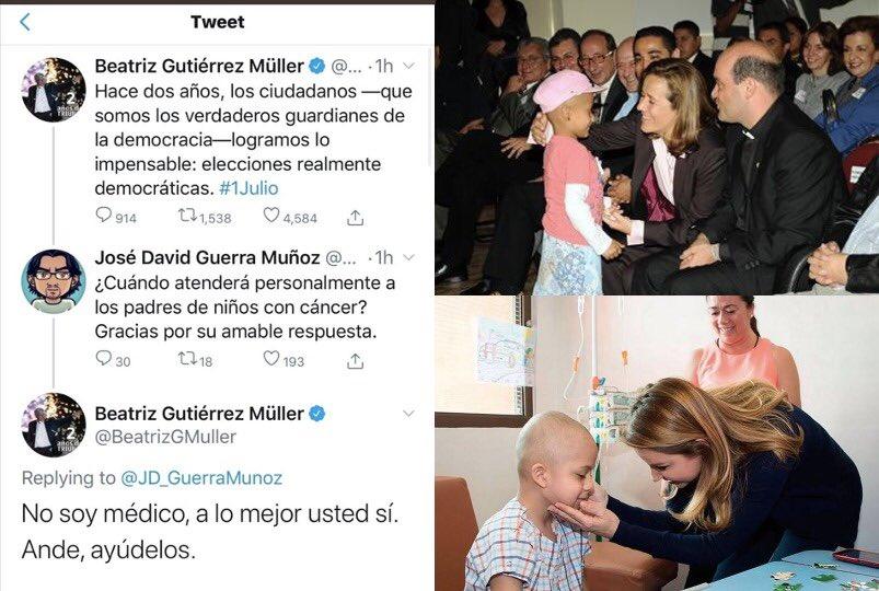 Oiga Beatriz, NO se necesita ser doctora para sentir empatía por los pequeños con cáncer.   Ellas tampoco son doctoras... 🤦🏻♀️