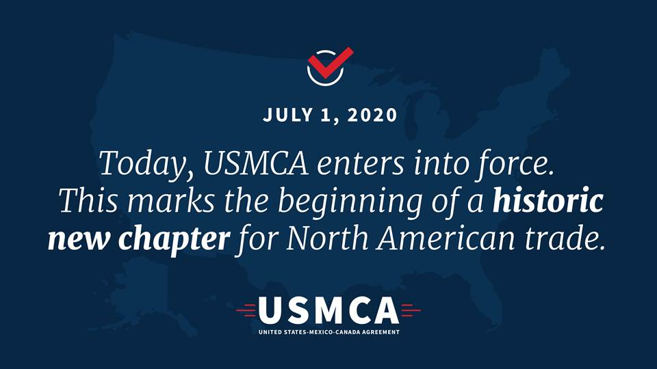 #USMCA is a historic agreement for Iowa families, farmers and small business owners. Grateful to @POTUS and his administration for their unwavering commitment to getting this agreement done.