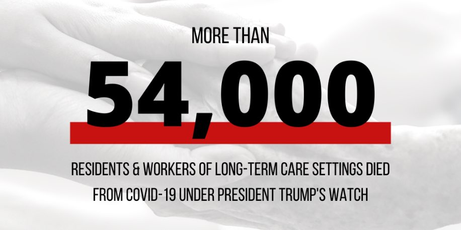 A new report from @SenBobCasey @SenGaryPeters Sen. @RonWyden details how the Trump administration has flat out failed nursing home residents and caregivers during the #Covid pandemic. ⤵️  How the Trump Administration Failed Residents and Workers: