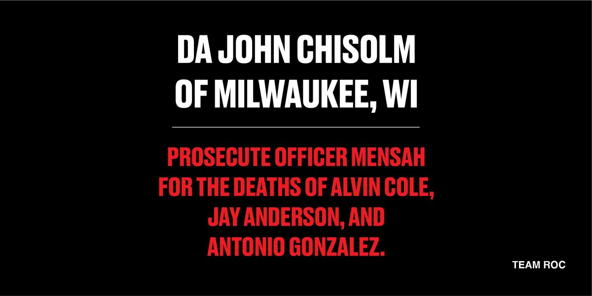 .@DAJohnChisholm How many more people must die at the hands of Officer Joseph Mensah? Mensah has recklessly shot and killed THREE men of color, inexplicably failed to enable his dash camera, and failed to render medical aid during these tragic instances.  Prosecute him.