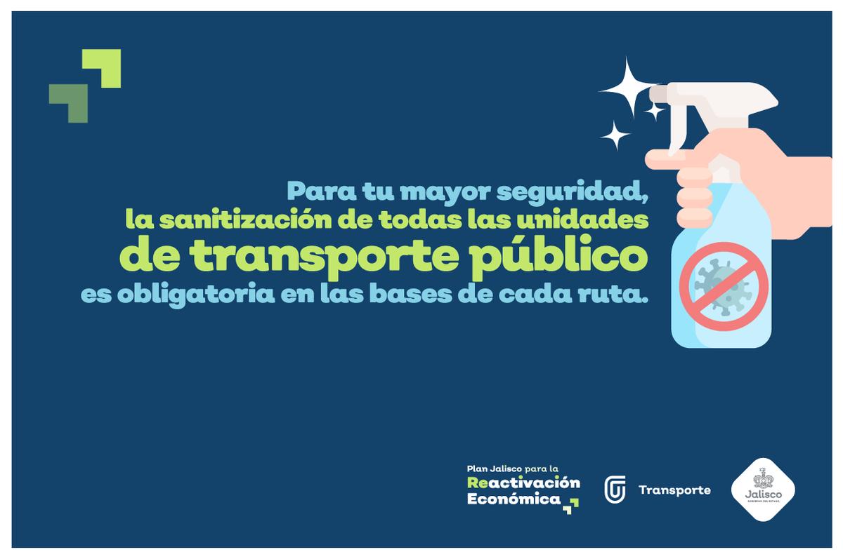 Sabemos que la prevención del contagio del COVID-19 es una responsabilidad de todos.   Las unidades del transporte público están siendo sanitizadas en sus bases. Te recordamos que debes de llevar bien puesto el cubrebocas desde el inicio al final de tu recorrido.