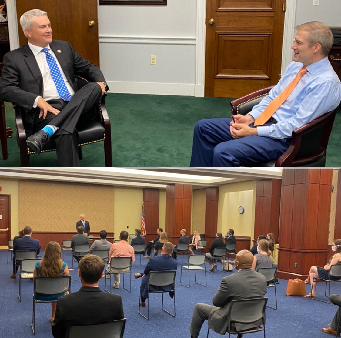 Met with my predecessor Jim Jordan, each individual @GOPoversight member & the entire staff to discuss the future. There are so many areas of unnecessary spending & government overreach we should be examining. Instead the Democrat majority wastes tax $$ on baseless investigations