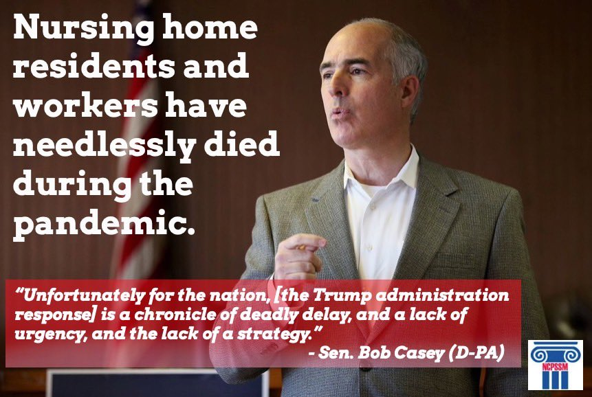A new report by Senators Casey, Peters, and Wyden slams Trump administration response to #Coronavirus pandemic and its impact on older Americans. @SenBobCasey @SenGaryPeters @RonWyden