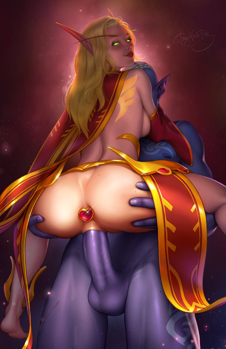 Thanks @khalysz for inspiration 🍑 Alt versions on my Patreon ;3  Discord server:  Patreon:  Coffee time:   #tvt #wow #nsfw #nelf #belf #elf #warcraft #buttpluged #butt #sexart #standandcarry