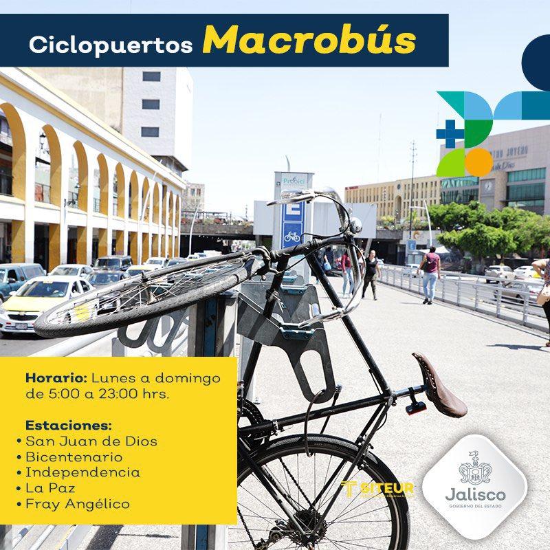 También en #MiMacro Calzada puedes resguardar tu bicicleta, solo tienes que asegurarla y regístrate con el vigilante en turno.  #ProBici 🚴🏽♂️