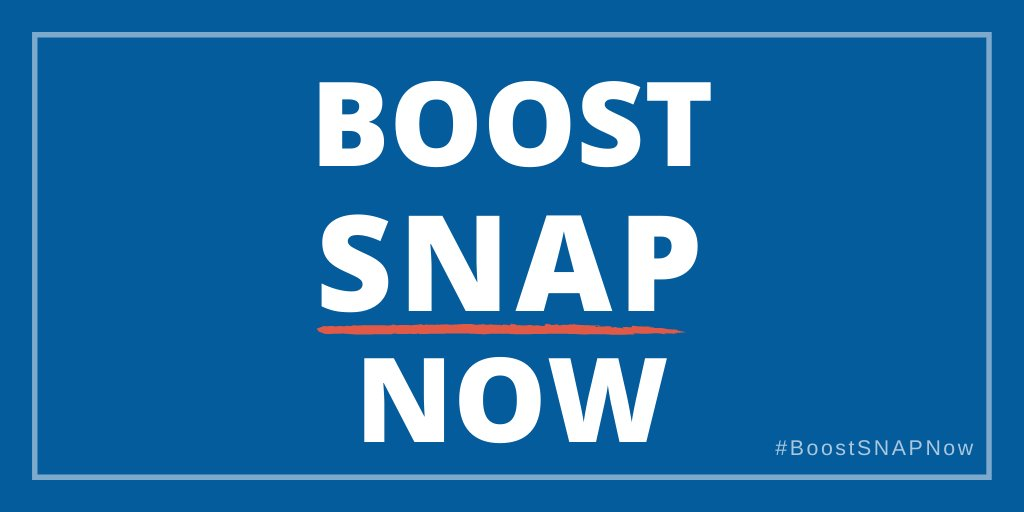 """The #COVID19 crisis is exacerbating hunger in communities across the country. Increasing #SNAP benefits isn't part of some @SenateDems """"ideological wish list"""" as the Senate R's have said. It's an essential response to this public health crisis. #BoostSNAPNow"""