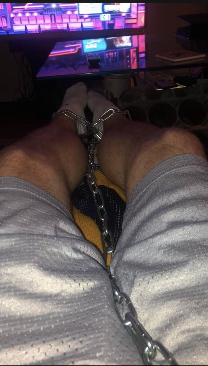 Here is another pathetic white bitch who is chained up for 5 hrs using Master lock ......   will adding more time to his sentence .. should I do 10hrs ? Decisions / decisions   findom ~ finsub ~ findomme