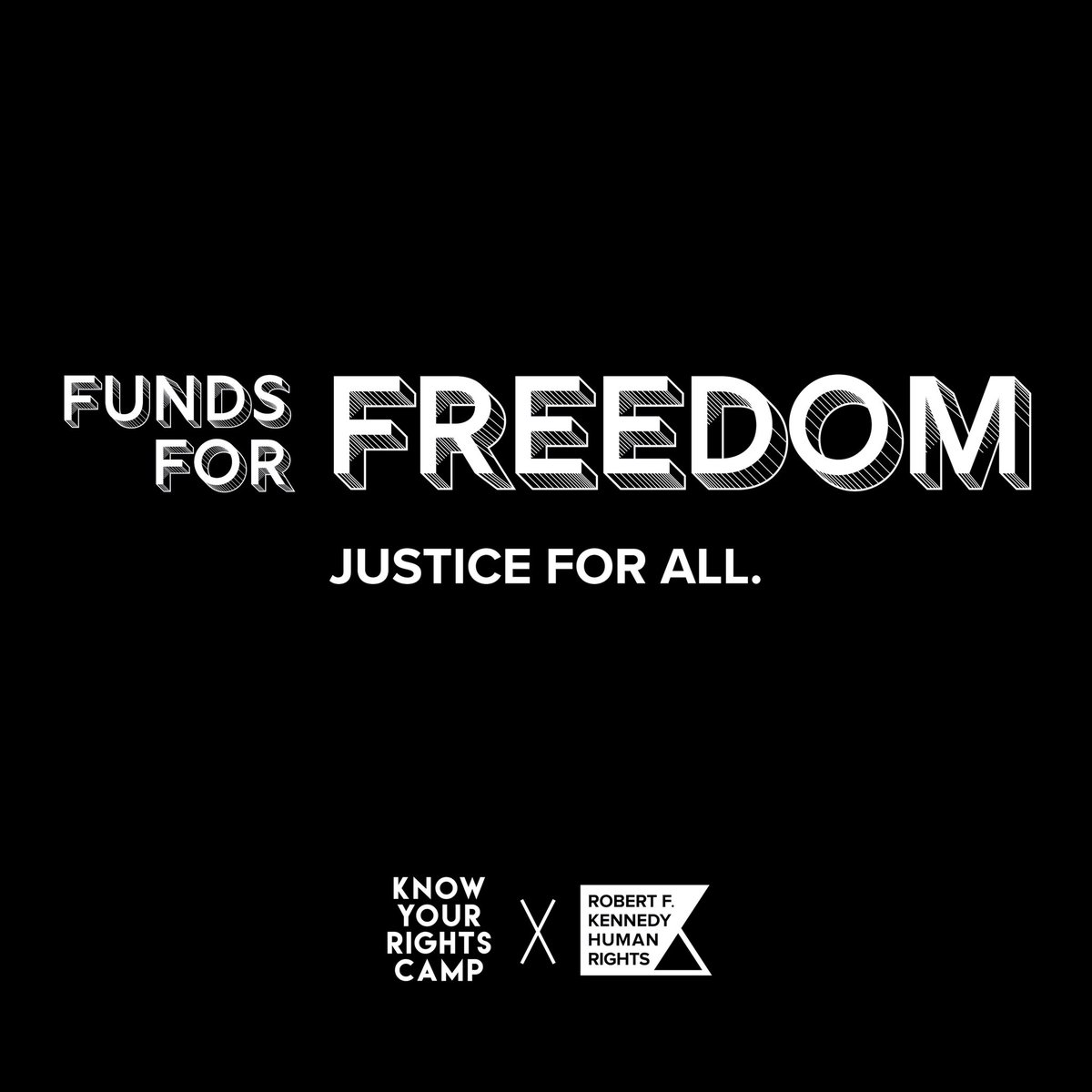 We've dedicated $1,000,000 to bail funds nationwide working w/ @RFKHumanRights matching funds to help free our brothers, sisters & siblings threatened by #COVID19. To learn more about our #KnowYourRightsCamp COVID-19 Relief Fund  #wegotusk