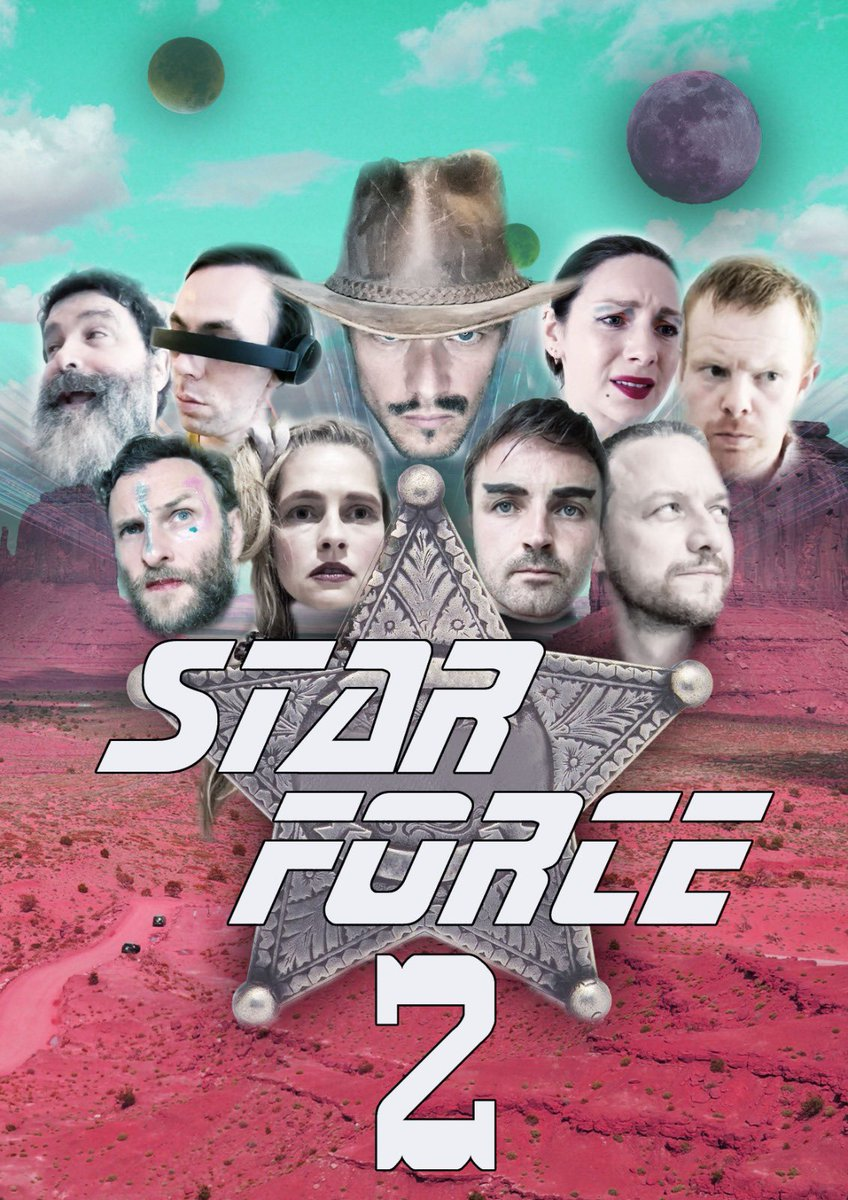Star force 2. Starring @SamHeughan @caitrionambalfe @teresapalmer #JamesMcavoy @KevMains @BrendanEORourke @James_A_Kirk @rossmains me and #MickFoley aka Mankind!!! Released later today.