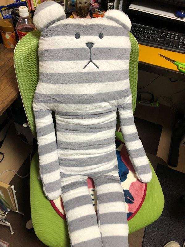 test ツイッターメディア - ギリギリまで悩んで決めたポイントの使い途! この度10年の間添い寝を続けてくれてたクラフトホリックの抱き枕が新しく生まれ変わりました。前回はピンクのウサギだったんだけど、耳が邪魔なことが多いと思ってたので熊にしたww 今日からよろしくな!! https://t.co/UgQm0G1ifP