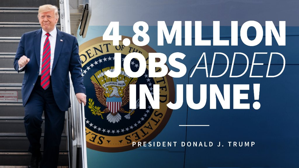 4.8 million jobs added—the biggest monthly gain ON RECORD! 🇺🇸