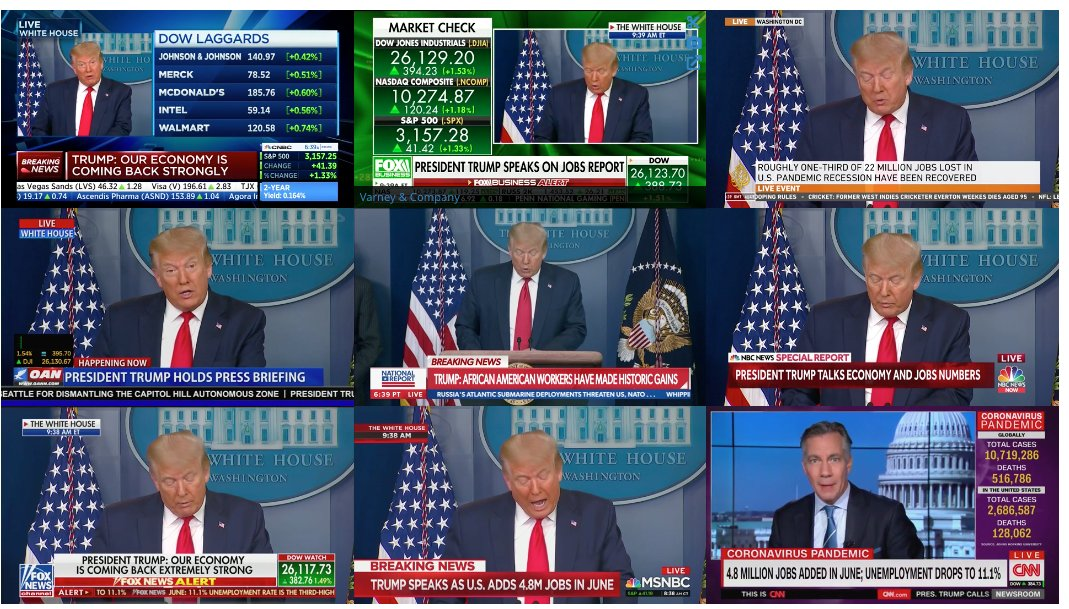 CNN is the only network not covering President Trump's remarks on June's MASSIVE jobs report.  Jeff Zucker doesn't want Americans to know about The Great American Comeback.  But President Trump is rebuilding the greatest economy in history, whether CNN likes it or not.