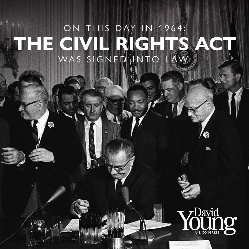 On this day in 1964, the Civil Rights Act was signed into law.