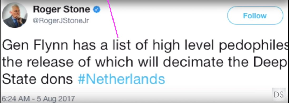 """👉Roger Stone tweet: """"#Flynn has a list of high level pedophiles the release of which will decimate the Deep State dons #netherlands"""" 👉#EpsteinDidntKillHimself  👉Yesterday German news: 800 new reports related to #MadeleineMcCann case 👉#GhislaineMaxwell arrested #wwg1wga #QAnon"""