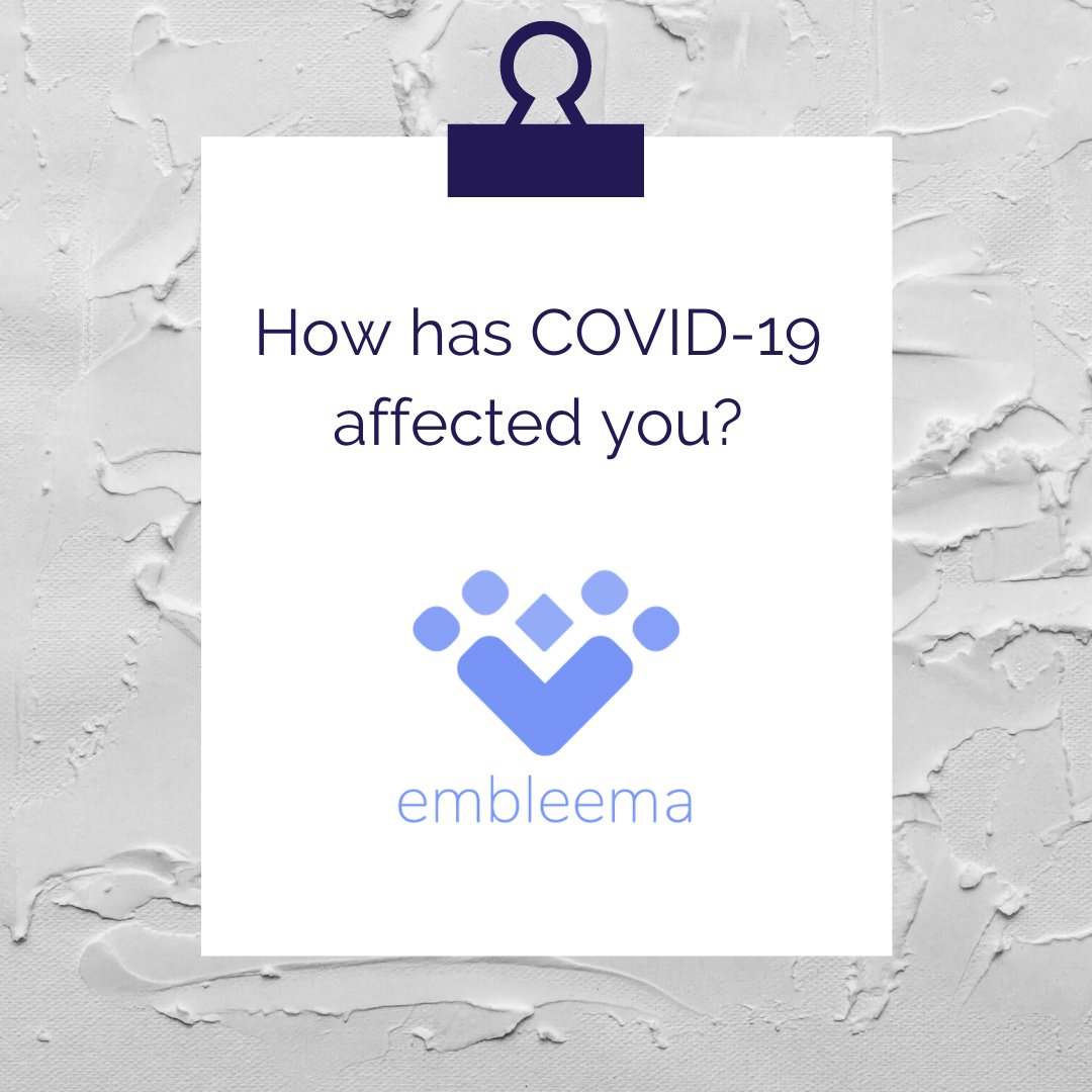 How has COVID-19 affected you? Let us know!   We've teamed up with Embleema to create an interactive survey to help us better understand how the public health crisis has affected the AYA community.  Visit  to sign up!