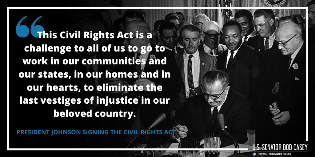 #OTD 56 years ago, the #CivilRightsAct became law. Today, we are witnessing a demand for justice that echoes the fights of that era as Americans march across our Nation—and it's our moral imperative that we meet the moment.  Next up: passing the Justice in Policing Act.