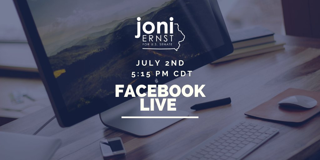 Join me on Facebook Live today at 5:15 CDT for a discussion with two Iowa veterans about the issues facing veterans in America, and how we can fight for those who fought for us: