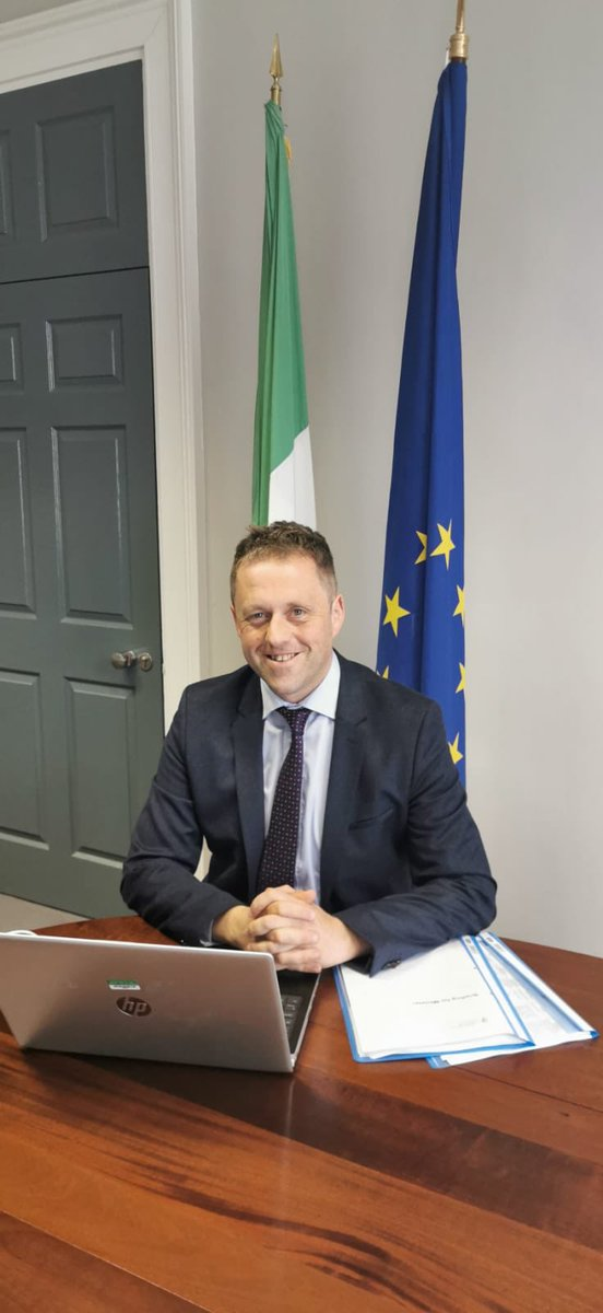 test Twitter Media - 📣  Welcome to our two new Ministers @brophytalks and  @ThomasByrneTD A busy day getting acquainted with the Department and looking forward to  #Working4Irl  🇮🇪 🌍 🇪🇺🇺🇳 https://t.co/PqRUD7TLaS