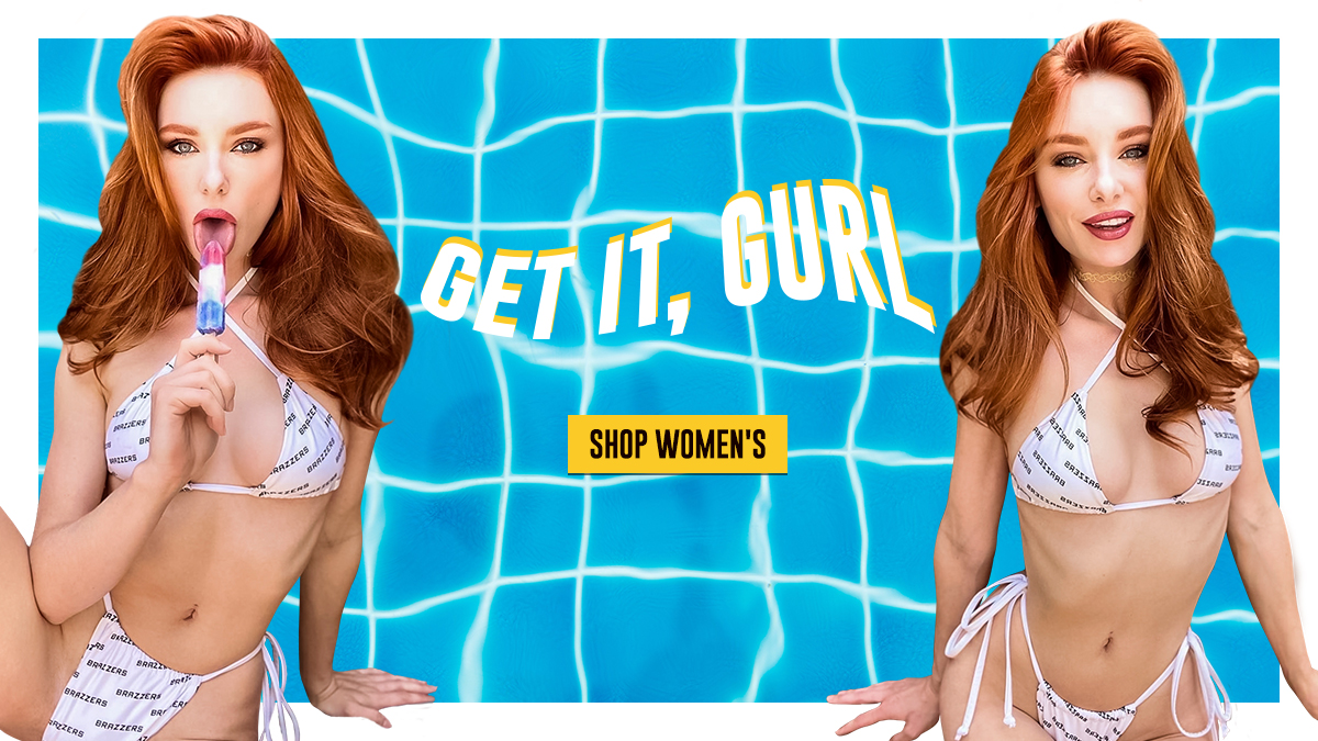 Turn heads with our new poolside threads!  Shop Brazzers Bikinis now 👉  @MissLacyLennon #TheBrazzersStore