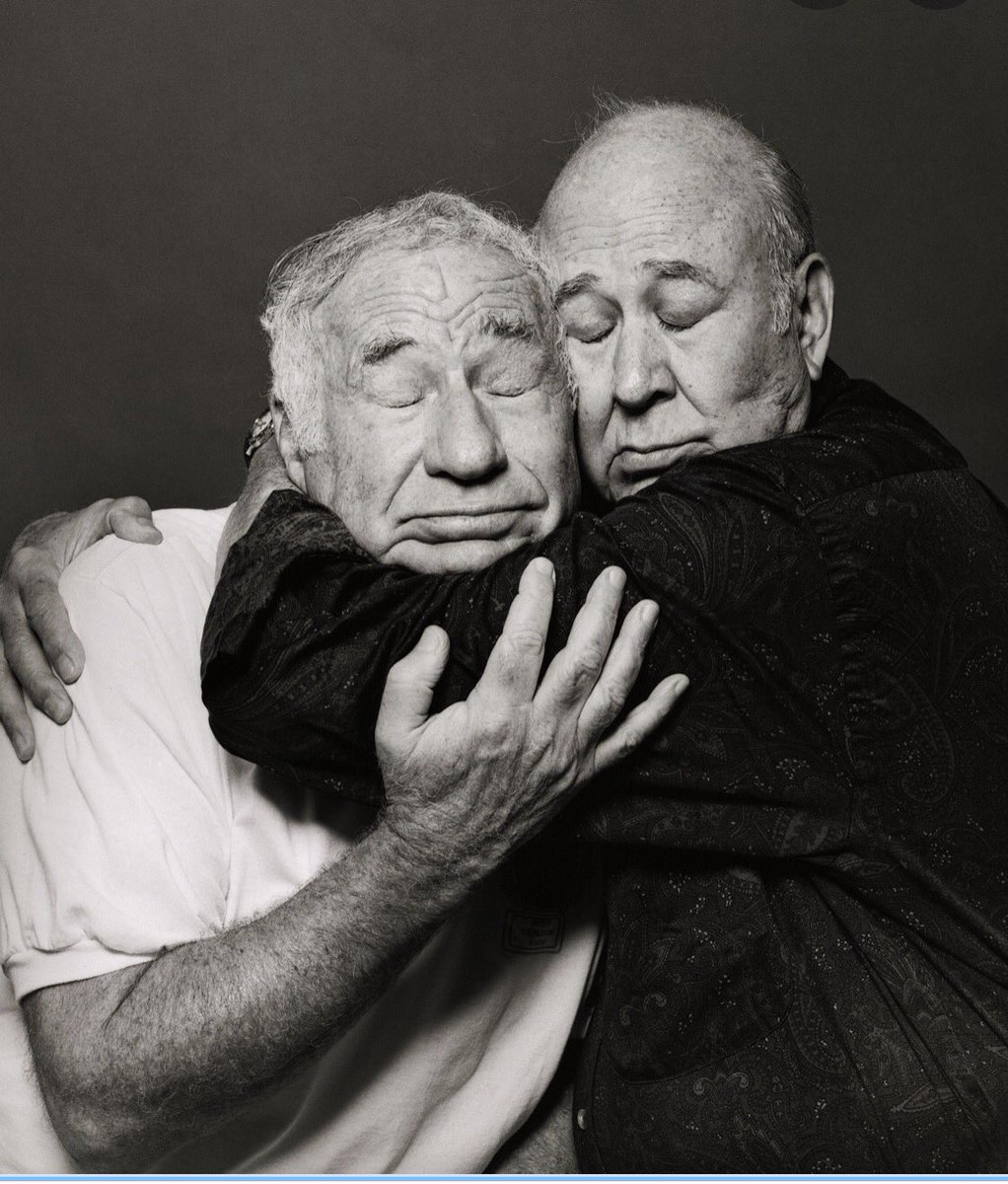 Two best friends. When it was still okay to hug.  So long, Carl.