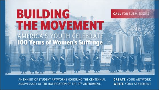 Monday July 6 at 4pm CDT is the deadline for students to submit entries to @FLOTUS' art exhibit honoring the centennial of the ratification of the 19th amendment. Selected artwork will be displayed in the White House.  You can submit artwork here:  #IL13