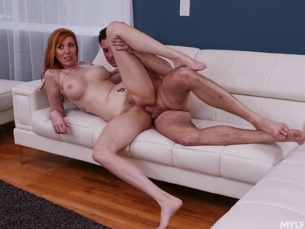 BUSTY MILF BORED AT HOME: Fiery redhead @LaurenFillsUp seduces her husbands best friend while he's at work. He came home early and was in for a surprise! From @GotMylf