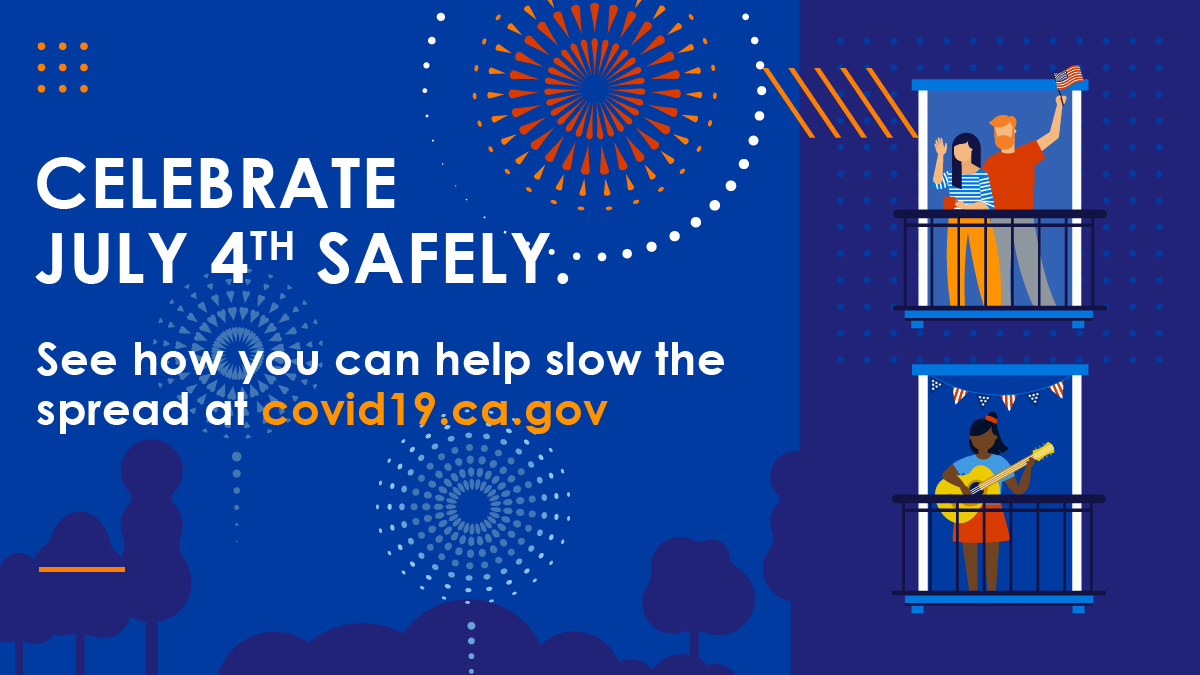 #COVID19 isn't taking the #4thofJuly weekend off!   🔹Keep 6 feet of distance from others  🔹Wear a face covering 🔹Avoid gathering with people outside your household 🔹Stay home if you are feeling sick   #YourActionsSaveLives
