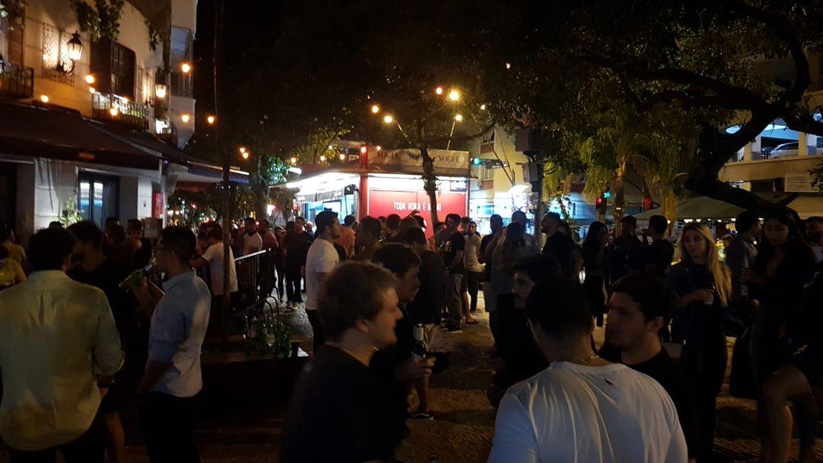 Covid-19: Bares da Zona Sul do Rio reabrem lotados na noite desta quinta-feira; clientes descumprem regras de distanciamento e uso de máscara