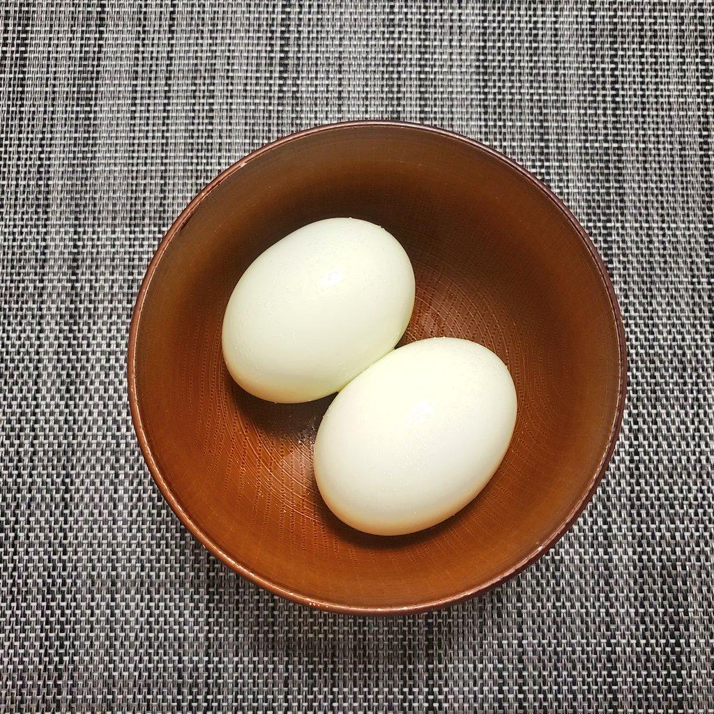test ツイッターメディア - 朝御飯☕😃🌄  ✅ゆでたまご 2個  おはようございます☀️  家に食べ物が全然ない💦  なのでたまごを茹でて食べました‼️  これでたんぱく質はかなり摂取😁  #Twitter家庭料理部 #料理好きな人と繋がりたい  #料理男子  #料理記録  #日本自炊協会 東京支部 #uno61429210 https://t.co/75mkdeTUdM