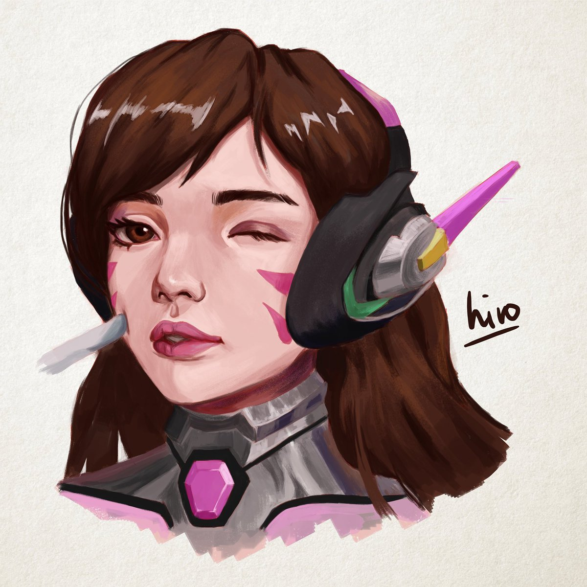 Decided to pick up digital painting again... • • • • • #Art #drawing #sketch #illustration #painting #digitalart #artist #portrait #instaart #dailysketch #digitalpainting #fanart #Dva #Dvaoverwatch #overwatch #overwatchart