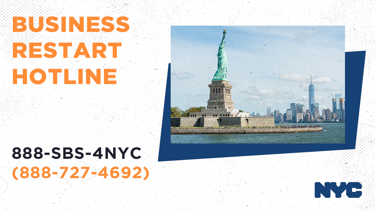 Reopening will be successful if it's safe, and we're helping small businesses do it right.  If you have questions about helping employees or customers, call 888-SBS-4NYC!