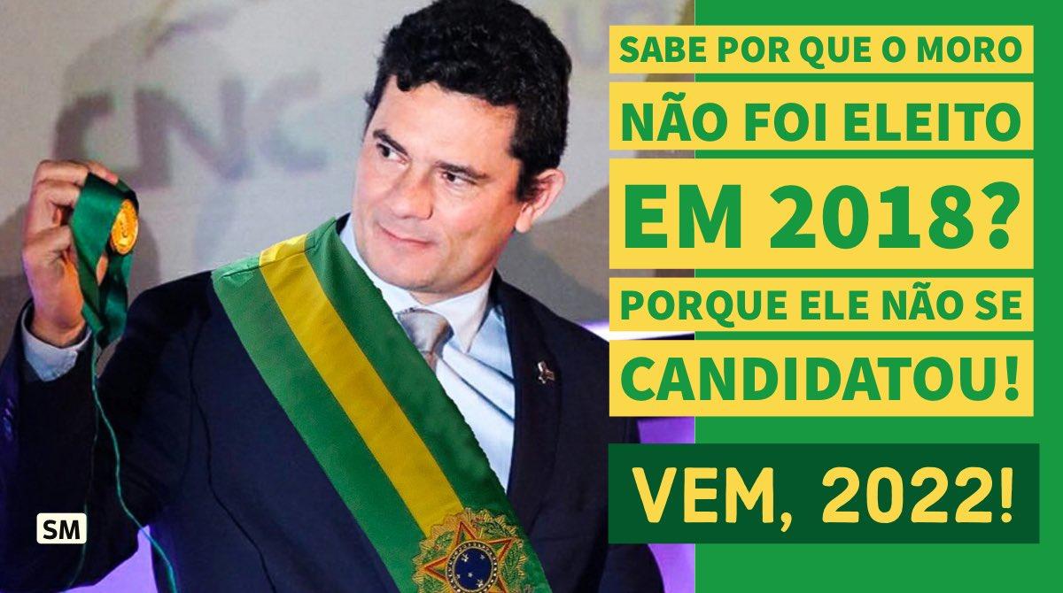 Se você apoia o Dr @SF_Moro para Presidente do Brasil subam a tag #MoroVemAi