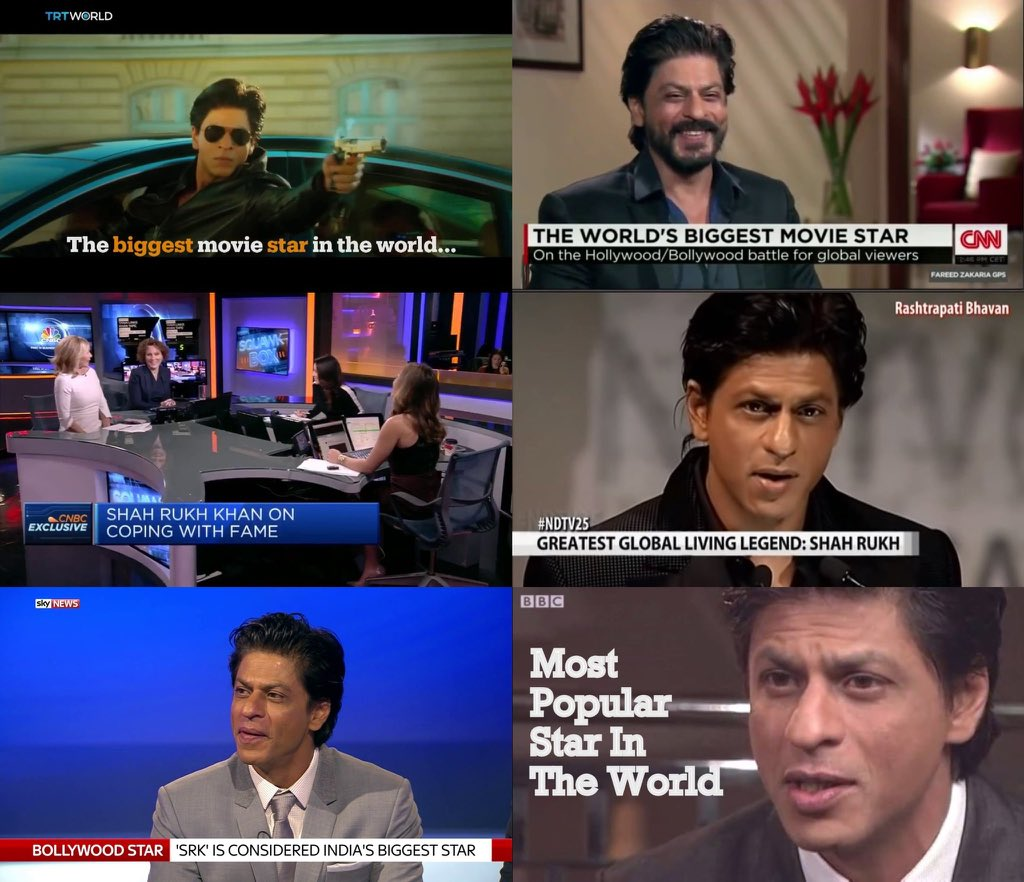 The Pride Of India   The Inspiration For Youth   The World's Biggest Superstar   The Self-made MegaStar   The One And Only King Shahrukh Khan   An Indian international Superstar where for foreigners india means @iamsrk   #SupportSelfmadeSRK