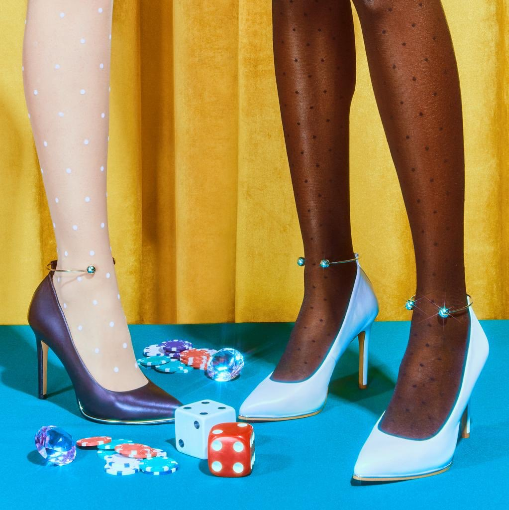 Perfect shoe for when u wanna let ur hair down, have a few rounds & just let go like...🎲🎲😉don't forget 10% from the sale of every shoe and handbag from the @kpcollections site will go to @PointFoundation & their efforts in empowering more BIPOC LGBTQ+ students #shoesdaytuesday