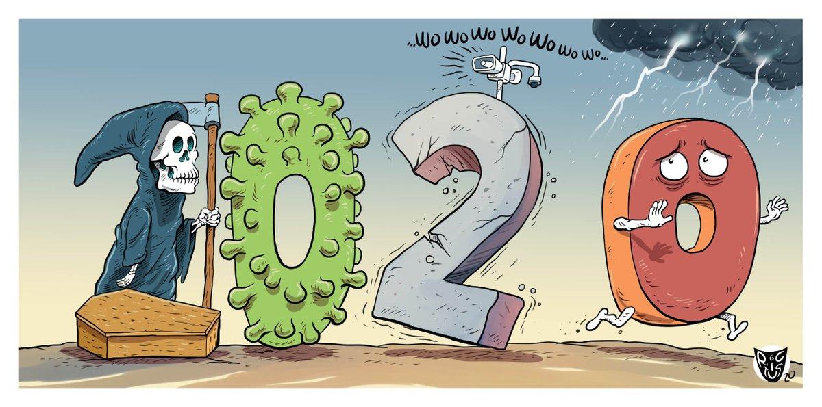 """""""2020"""" Cartón publicado hoy en @ElFinanciero_Mx"""