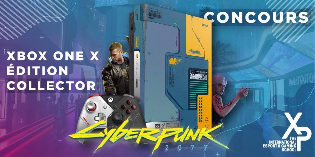 #CONCOURS 🎁 Avec XP School, j'ai le plaisir de mettre en jeu un lot exceptionnel : une #XboxOneX Collector #Cyberpunk2077 ✨   Pour participer • RT + Follow @xp_esport et @JulienChieze • Être abonné à ma chaîne YouTube   Bonne chance à tous ❤️ TAS 05/08