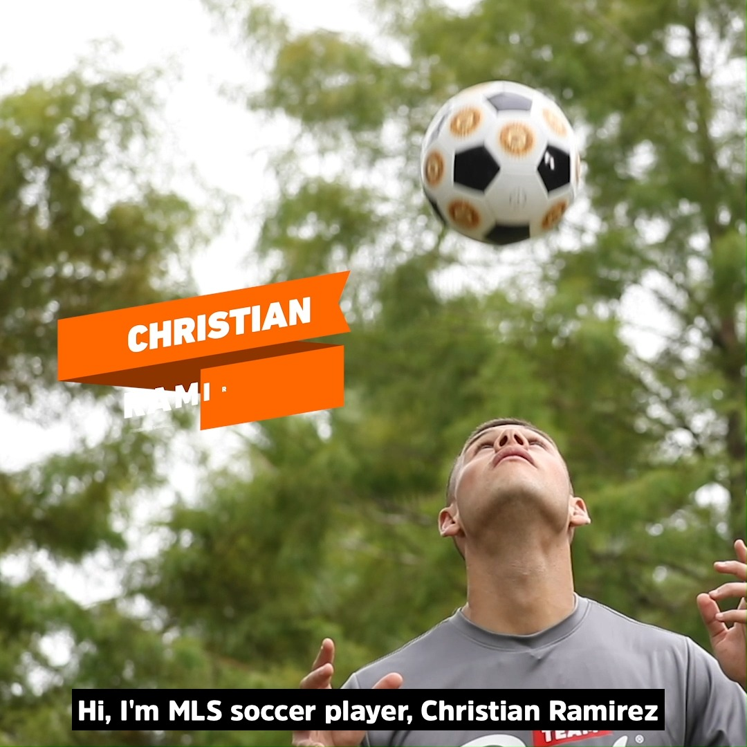 Score a goal like MLS player @Chris_Ramirez17 and help beat hunger! Post a video of you scoring a goal, add #ScoreForMore and we'll donate $100 to @feedthechildren for every post.