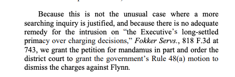 BREAKING: The US Appeals Court has GRANTED Flynn's motion to force Judge Sullivan to dismiss the case.